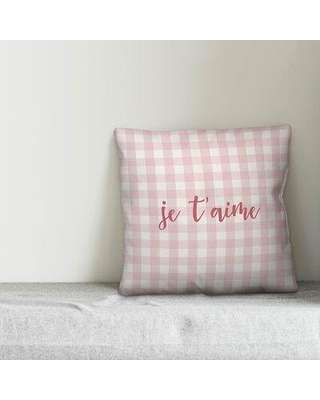 Ebern Designs Pollard Je T'aime Throw Pillow W001020539 Product Type: Throw Pillow Color: Pink