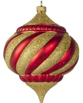 Queens of Christmas Arctic Onion Ornament WL-ONION-300- Color: Gold/Red