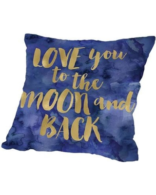 East Urban Home Love You to the Moon and Back Throw Pillow ESRB6676
