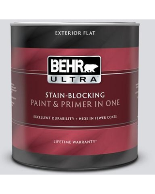 Deals On Behr Ultra 1 Qt N540 1 Script White Flat Exterior Paint And Primer In One