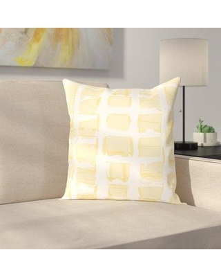 """East Urban Home Check Throw Pillow ESRB6234 Size: 16"""" H x 16"""" W x 2"""" D Color: Yellow"""