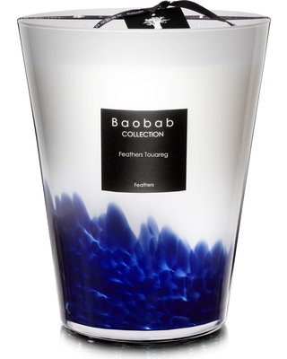 Baobab Collection Feathers Touareg Candle, Size One Size - White