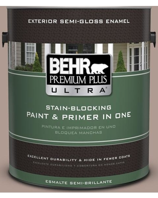 BEHR Premium Plus Ultra 1 gal. #N170-4 Coffee with Cream Semi-Gloss Enamel Exterior Paint and Primer in One