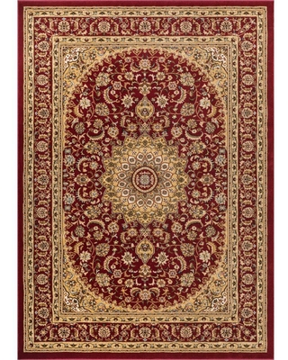 Well Woven Timeless Aviva Red 5 ft. x 7 ft. Traditional Area Rug