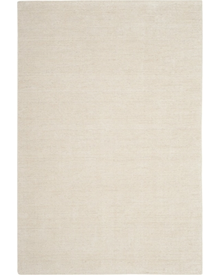 4'X6' Solid Knotted Area Rug Ivory/Light Gray - Safavieh, White