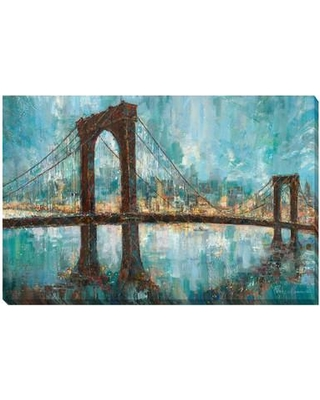 Artistic Home Gallery 'Manhattan Memories' by Ruane Manning Painting Print on Wrapped Canvas 1624172LG