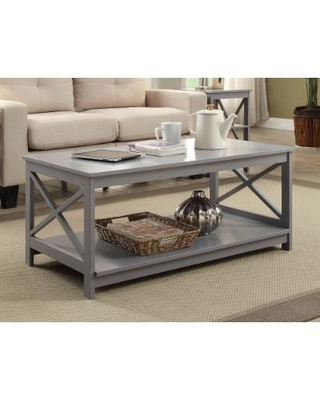 Stupendous Hot Sale Oxford Coffee Table In Gray Finish Convenience Caraccident5 Cool Chair Designs And Ideas Caraccident5Info