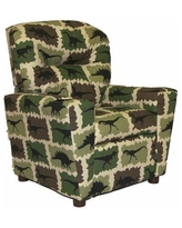 Brazil Furniture Home Theater Children's Cotton Recliner with Cup Holder 401C Color: Rex Camo