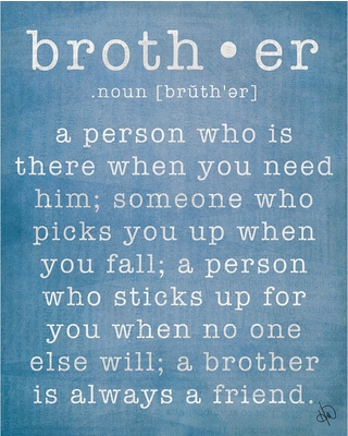 """Creative Gallery 20 in. x 24 in. """"Brother"""" Wrapped Canvas Wall Art Print, .N/A"""