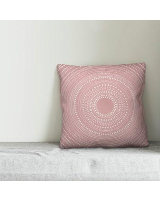 """Union Rustic Tyler Medallion Throw Pillow W000159945 Size: 20"""" x 20"""" Color: Blush"""