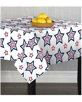 Can T Miss Deals On The Holiday Aisle Uribe Stars Printed Tablecloth Cotton In Red White Blue Size 70 H X 70 W X 70 D Wayfair Camz11197