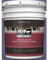 BEHR Premium Plus Ultra 5 gal. #pmd-44 Twilight Dusk Flat Exterior Paint and Primer in One