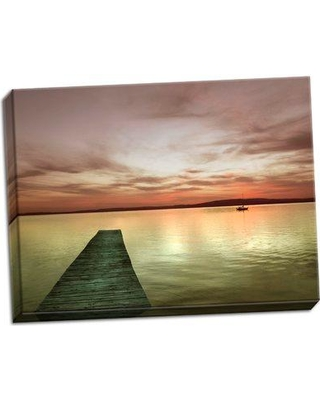 Breakwater Bay 'Pier and Sunset I' Photographic Print on Wrapped Canvas BF046549