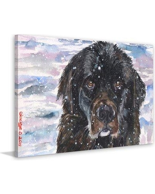 "Marmont Hill 'Newfoundland' by George Dyachenko Painting Print on Wrapped Canvas MH-GEORG-59-C- Size: 40"" H x 60"" W x 1.5"" D"