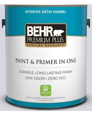 BEHR Premium Plus 1 gal. #MQ3-59 Will O the Wisp Satin Enamel Low Odor Interior Paint and Primer in One