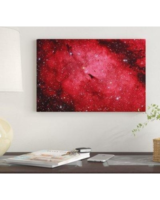 """East Urban Home 'Sadr Region In The Constellation Cygnus II' By Reinhold Wittich Graphic Art Print on Wrapped Canvas EUME7775 Size: 12"""" H x 18"""" W x 1.5"""" D"""