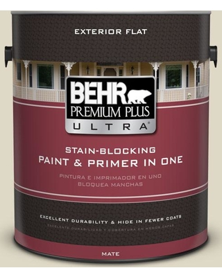 Deals On Behr Ultra 1 Gal Yl W13 Sentimental Beige Flat Exterior Paint And Primer In One