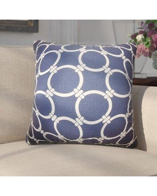 Darby Home Co Donatella Geometric Cotton Throw Pillow DRBH3278 Color: Blue