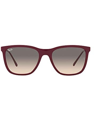 Ray-Ban RB4344 Square Sunglasses, Red Cherry/Clear/Grey Gradient, 56 mm