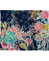 Deny Designs Night Bloomers Throw 17564-flemed
