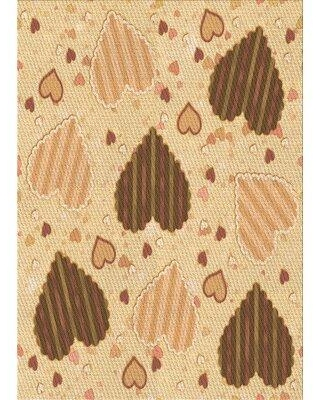 East Urban Home Wool Orange Area Rug W002512141 Rug Size: Rectangle 2' x 3'