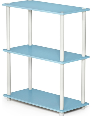Furinno Turn-N-Tube Compact Light Blue/White Open Bookcase