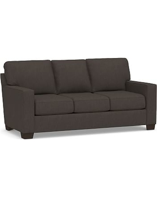 """Buchanan Square Arm Upholstered Sofa 83.5"""", Polyester Wrapped Cushions, Textured Twill Charcoal"""