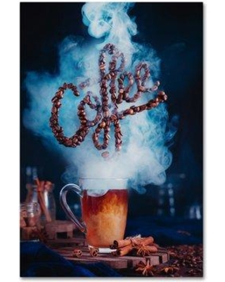 "Trademark Fine Art 'Smell The Coffee' Photographic Print on Wrapped Canvas 1X01813-C Size: 19"" H x 12"" W"