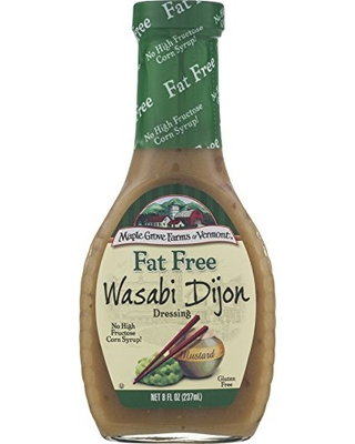 Maple Grove Farms Fat Free Salad Dressing, Wasabi Dijon, 8 Ounce (Pack of 12)