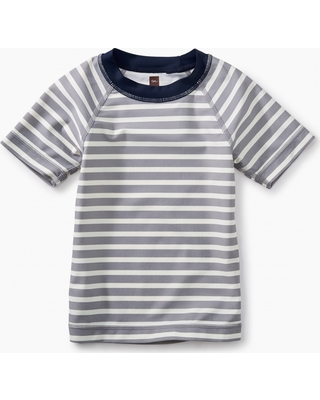Tea Collection Short Sleeve Striped Rash Guard