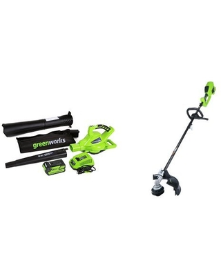 GreenWorks DigiPro G-MAX 40V Cordless Blower Vacuum and String Trimmer