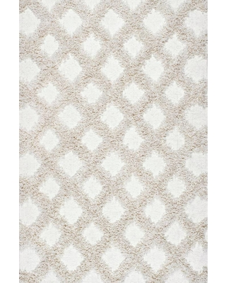 nuLOOM 10 x 14 Ivory Indoor Trellis Area Rug in Off-White   BDFR01A-10014