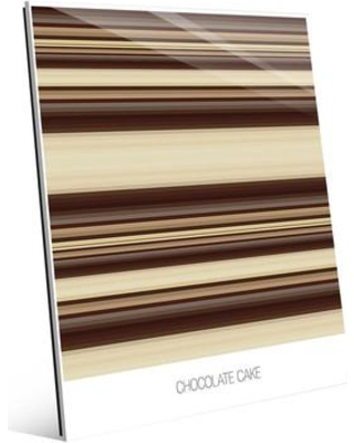 """Click Wall Art 'Chocolate Cake' Graphic Art on Plaque SBS0000039GLS Size: 10"""" H x 8"""" W x 1"""" D"""