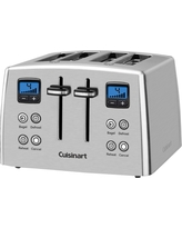 Cuisinart 4 Slice Compact Toaster - Stainless Steel Cpt-435, Grey