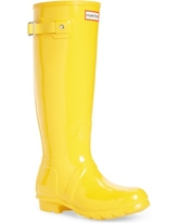 Women's Hunter Original High Gloss Boot, Size 5 M - Yellow