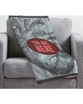 Deny Designs Wesley Bird You Are Here Throw Blanket 13536-fle Size: Small
