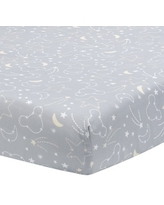 Disney Baby Mickey Mouse Gray//Yellow Celestial Fitted Crib Sheet by Lambs /& Ivy