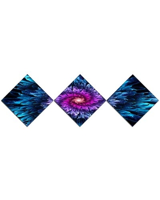 'Magical Glowing Fractal Flower' Graphic Art Print Multi-Piece Image on Canvas