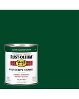 Rust-Oleum Stops Rust 1 qt. Protective Enamel Gloss Hunter Green Interior/Exterior Paint (2-Pack), Greens