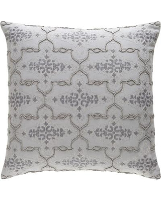 """Darby Home Co Shaffer and Surya Cotton Throw Pillow DRBC7646 Color: Gray Size: 22"""" H x 22"""" W x 4"""" D"""