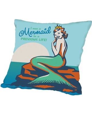 """Americanflat Mermaid in A Previous Life Throw Pillow A40P571PILL Size: 20"""" H x 20"""" W x 2"""" D"""