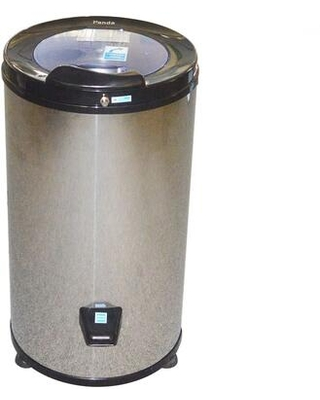 """PANSP22 16"""" Portable Spin Dryer with 22 lbs. Capacity Stainless Steel Drum 3200 RPM Spin Speed Safety Locking Lid and Stabilizing Rubber Feet:"""