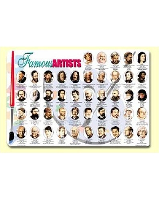 """Painless Learning Placemats Famous Artists 17.5"""" Placemat (Set of 4) ART-1"""