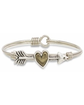 Luca + Danni Follow Your Heart Bangle Bracelet, Women's, Size: REGULAR, Silver