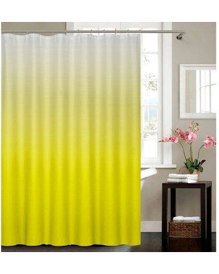 Hashtag Home Halsted Spa Bath Single Shower Curtain W000494676 Color: Yellow