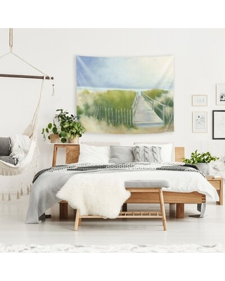 """Microfiber Wild Apple Tapestry East Urban Home Size: 36"""" H x 26"""" W"""