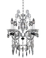 Steffani 4-Light Candle Style Classic / Traditional Chandelier Allegri by Kalco Lighting Crystal: Firenze Clear