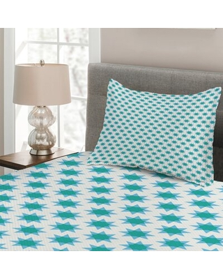 Eastern Simplistic Star Shapes Repetition Coverlet Set East Urban Home Size: Twin Bedspread + 1 Sham