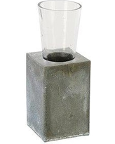 Aidan Gray Floral Element Table Vase (Set of 4) G303 Color: Weathered Zinc