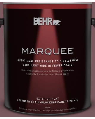 BEHR MARQUEE 1 gal. #110F-6 Purplestone Flat Exterior Paint and Primer in One